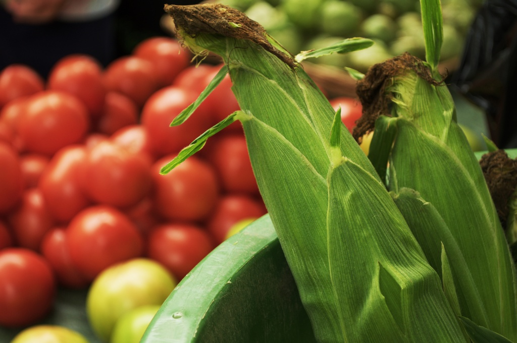Corn and other veggies at the Irvington (IN) Farmer's Market.