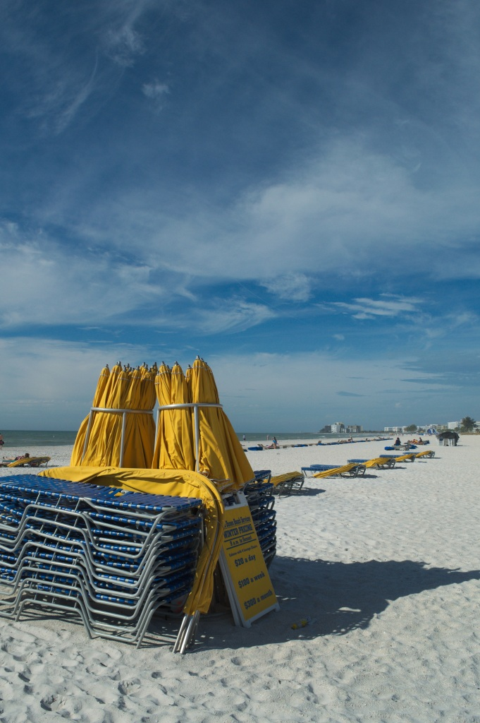 Shades and chaises on St. Pete Beach